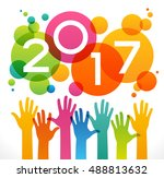 vector 2017 happy new year... | Shutterstock .eps vector #488813632
