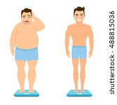 before and after weight loss....   Shutterstock .eps vector #488815036