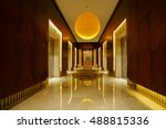 luxury lobby interior.with... | Shutterstock . vector #488815336