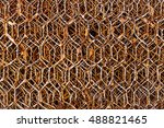 old wire mesh | Shutterstock . vector #488821465