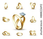 wedding rings and wedding... | Shutterstock .eps vector #488822692