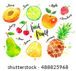 hand drawn watercolor colorful... | Shutterstock . vector #488825968