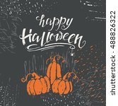 vector halloween lettering... | Shutterstock .eps vector #488826322