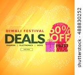 diwali festival deals and...   Shutterstock .eps vector #488830252