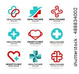 medicine and healthcare.... | Shutterstock .eps vector #488834002