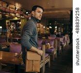 handsome businessman with...   Shutterstock . vector #488839258
