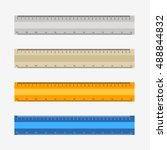 colorful rulers  millimeters ... | Shutterstock .eps vector #488844832