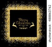 christmas background with... | Shutterstock .eps vector #488863762