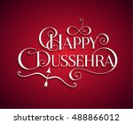 white text calligraphic... | Shutterstock .eps vector #488866012