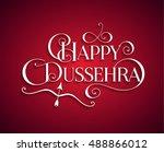 white text calligraphic... | Shutterstock .eps vector #488866012