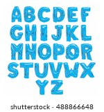 english alphabet from light... | Shutterstock . vector #488866648
