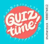 quiz time banner. | Shutterstock .eps vector #488876812
