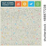 big icon set business icon...   Shutterstock .eps vector #488877238