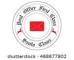 merry christmas stamp | Shutterstock .eps vector #488877802