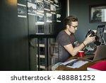 photographer professional... | Shutterstock . vector #488881252