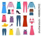 girl and female object ... | Shutterstock .eps vector #488882902