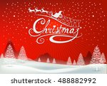 christmas greeting card. merry... | Shutterstock .eps vector #488882992