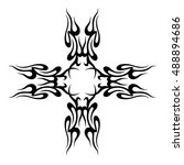tattoo tribal vector design... | Shutterstock .eps vector #488894686
