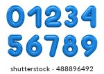 3d rendering number on a white... | Shutterstock . vector #488896492