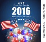presidential election 2016 in...   Shutterstock .eps vector #488897608