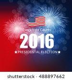 presidential election 2016 in... | Shutterstock .eps vector #488897662