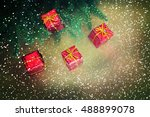 christmas gifts | Shutterstock . vector #488899078
