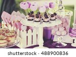 delicious sweet buffet with... | Shutterstock . vector #488900836