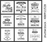 health. typography quotes. | Shutterstock .eps vector #488911528