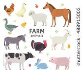 vector collection of farm... | Shutterstock .eps vector #488915002
