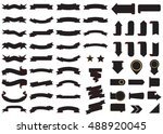 banner black vector icon set on ... | Shutterstock .eps vector #488920045