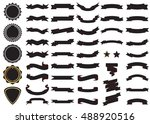 ribbon black vector icon on... | Shutterstock .eps vector #488920516
