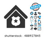 police office pictograph with... | Shutterstock .eps vector #488927845
