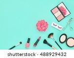 fashion cosmetic makeup. woman... | Shutterstock . vector #488929432