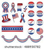 us presidential election 2016. | Shutterstock .eps vector #488930782