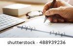 businessman working agenda... | Shutterstock . vector #488939236
