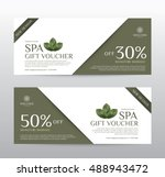 gift voucher template for spa ... | Shutterstock .eps vector #488943472
