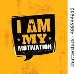 i am my motivation. inspiring... | Shutterstock .eps vector #488944612