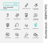 drugs categories   modern plain ...   Shutterstock . vector #488947492