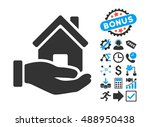 home offer pictograph with... | Shutterstock .eps vector #488950438