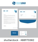 vector corporate identity... | Shutterstock .eps vector #488970382