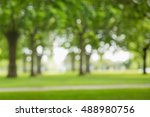 blur view of trees on a park | Shutterstock . vector #488980756