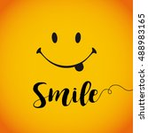 smile world day. smile with... | Shutterstock .eps vector #488983165