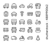 transport vector icons 1 | Shutterstock .eps vector #488990062