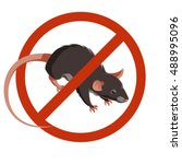 rat or mouse warning vector...