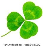 st. patrick's day shamrock... | Shutterstock . vector #488995102