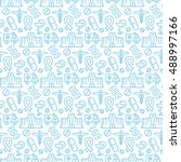 seamless pattern with icons of...   Shutterstock .eps vector #488997166