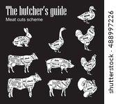meat symbols vector...   Shutterstock .eps vector #488997226