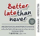 vector sticker styled card with ...   Shutterstock .eps vector #489001786