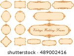 vector of vintage frame set on... | Shutterstock .eps vector #489002416