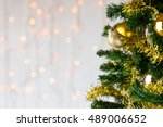 festive christmas close up of... | Shutterstock . vector #489006652